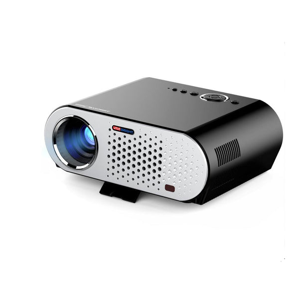US Plug Portable Video Projector Wireless Projector Multimedia HD1080P Cinema Theater Projector with HDMI/VGA/AV/USB/RJ45-LAN