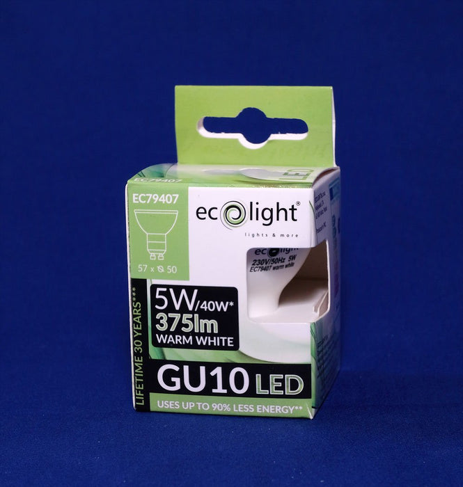GU10 LED Light Bulb 5 Watt Warm White from the Batteryworldshop.com