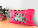 Limited Edition LARGE Makeup Bag with 3 color print design on front