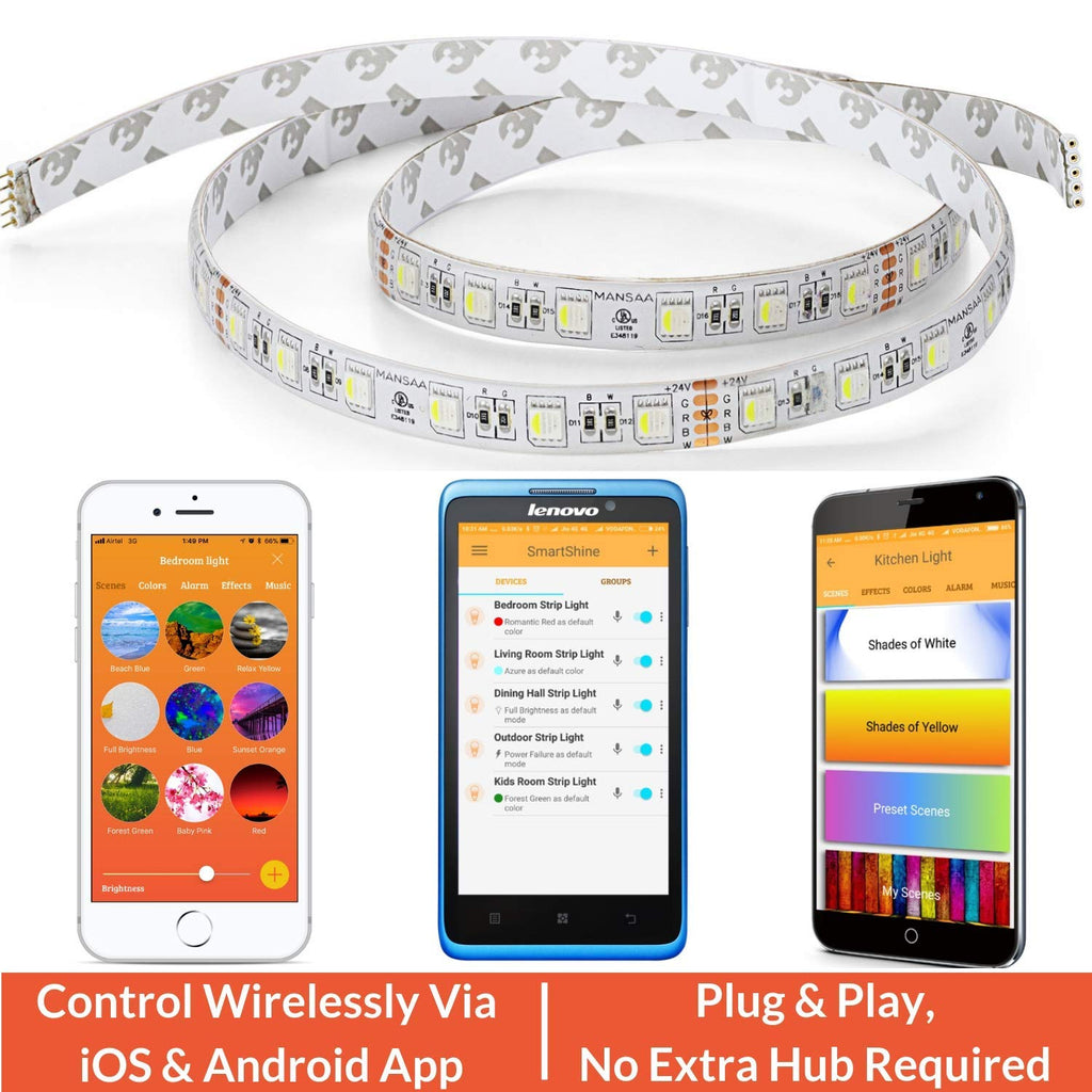 RGBW Smart LED Strip || Mobile Control || 5 Meters Length
