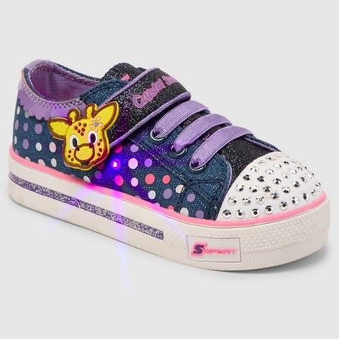 Toddler Girls' S Sport by Skechers Glimmer Stars Light up Sneakers