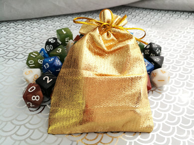 Mysterious Golden Bag of Dice