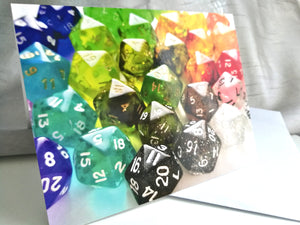 Rainbow D20's Greetings Card