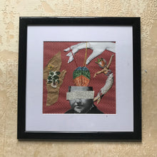 "Load image into Gallery viewer, Framed Original Paper Collage ""Dance, dance, dance"""