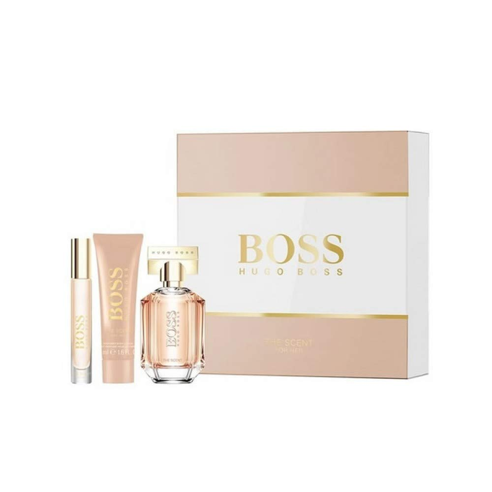 Hugo Boss The Scent For Her Gift Set Eau de Parfum Spray 50ml/Body Lotion 50ml & Portable Spray 7.4ml