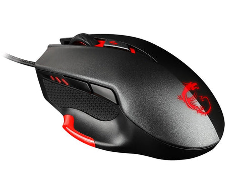 MSI Interceptor DS300 Programmable Ergonomic Laser Gaming Mouse