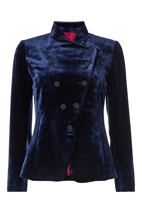 Sergeant Pepper Jacket in Navy Velvet