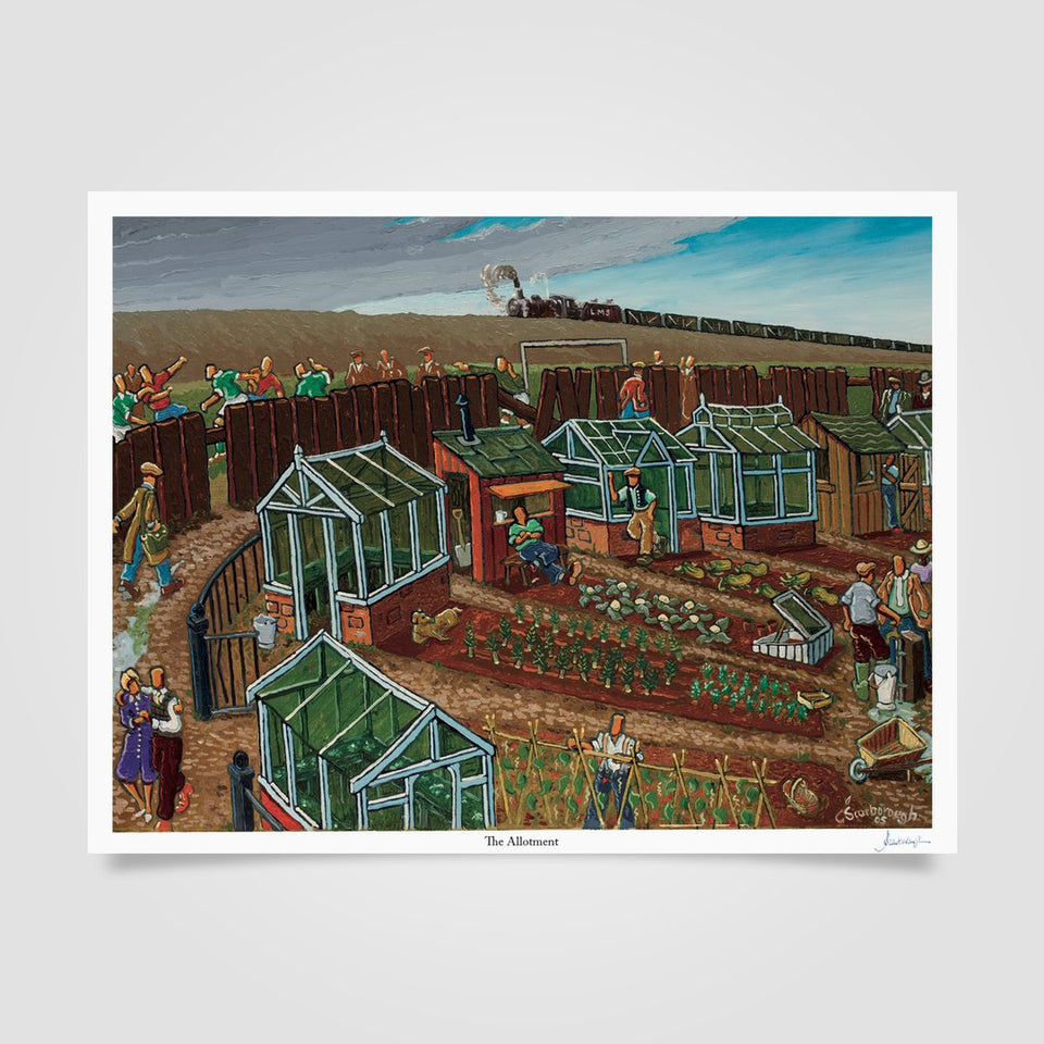 Joe Scarborough Signed Art Print The Allotment