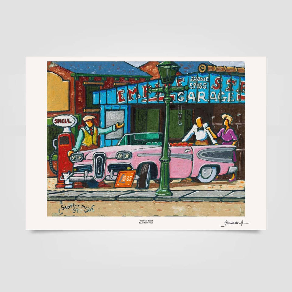 Joe Scarborough Signed Art Print The Ford Edsel