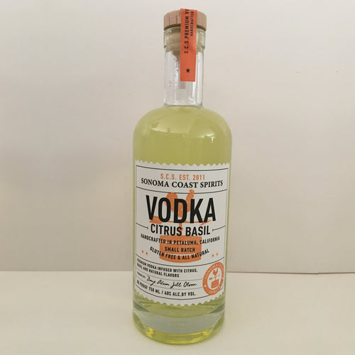 Citrus Basil Vodka Sonoma Coast Spirits