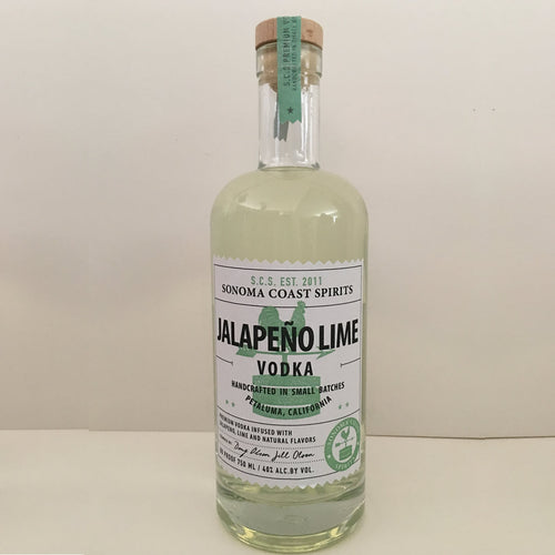 Jalapeno Lime Vodka Sonoma Coast Spirits