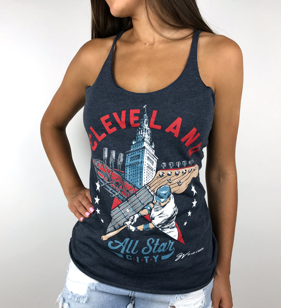 Womens Cleveland All Star City Racerback Tank