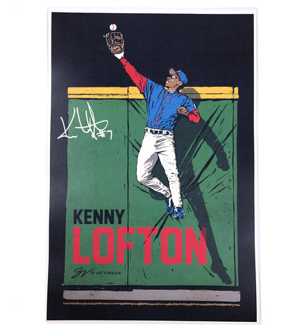 "Kenny Lofton 'The Catch"" Fine Art Print"
