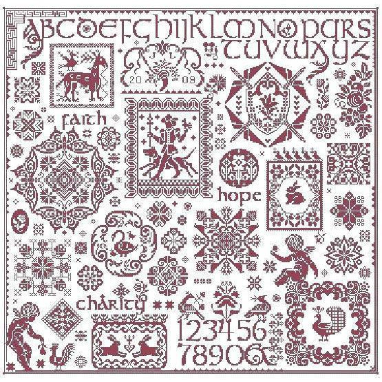 Paradigm Found Sampler Long Dog Samplers Cross Stitch Pattern