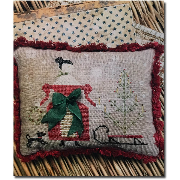 Deck the Halls Pinkeep Cross Stitch Pattern