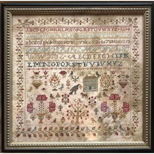 Merrily Merrily We Welcome Spring Sampler Cross Stitch Pattern