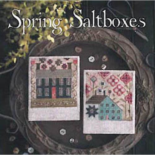 Spring Saltboxes Cross Stitch Pattern