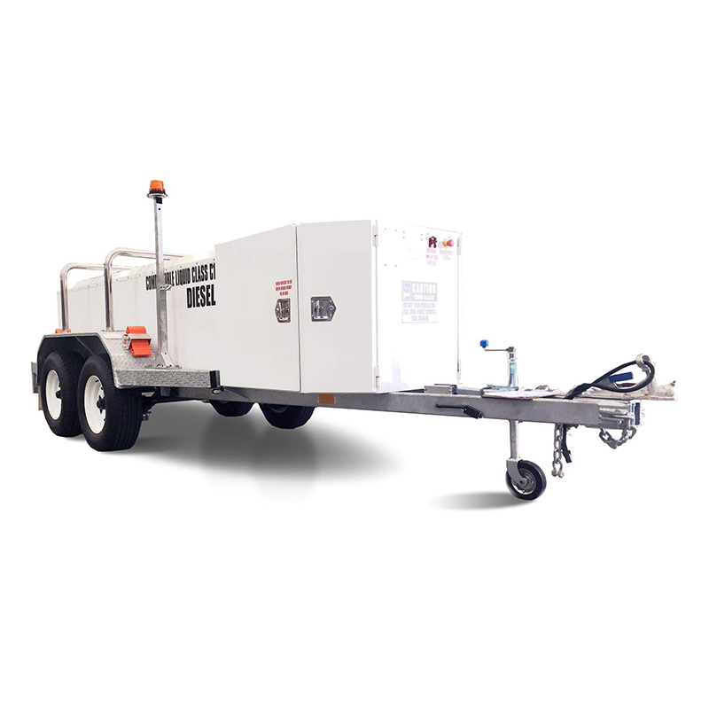 FUEL TRAILER iFUEL® 1250L Self Bunded Low Profile Galvanised Dual Axle featuring fully bunded pump bay housing