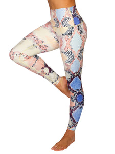 HIGH-RISE SNAKE F/L TRAINING TIGHTS - MULTI