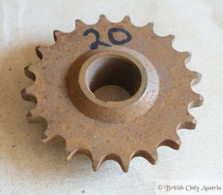 Norton 16H ES2,M18,Big4 Primary Sprocket 20T. NOS