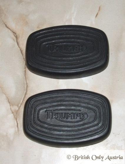 Triumph oblong Kneegrip Rubbers /Pair with Logo