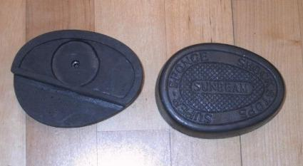 Sunbeam Kneegrip rubbers with cut out /Pair