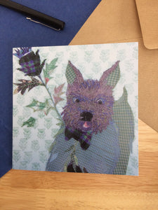 Scotty Dog Greetings Card
