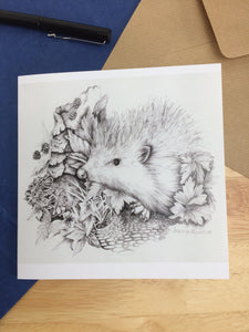 Hedgehog in the Hedgerow Greetings Card