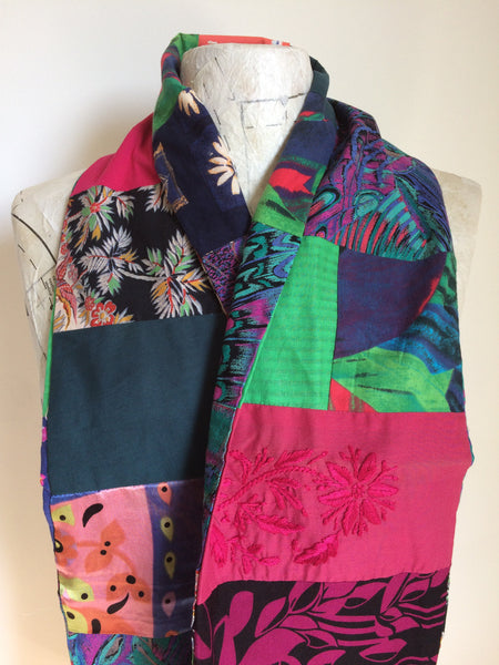Make your own fabric patchwork scarf kit