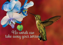 No Words Can Take Away Your Sorrow Hummingbird Sympathy Card