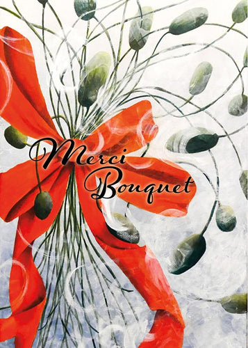 Merci Bouquet Floral Thank You Card