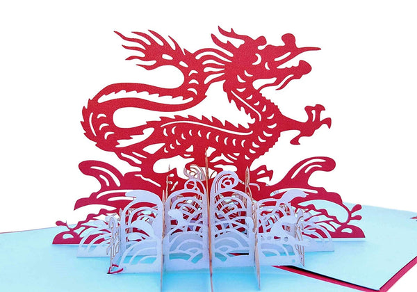Dragon 3D Pop Up Greeting Card 2