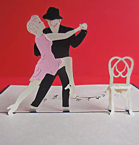 Dancers 3D Pop Up Greeting Card 1