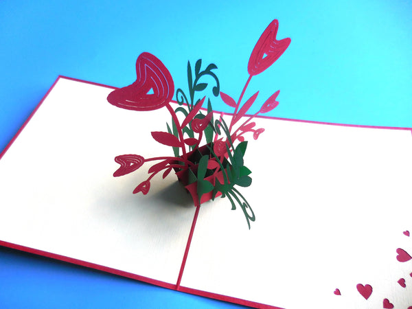 Happy Flowers 3D Pop Up Greeting Card 2