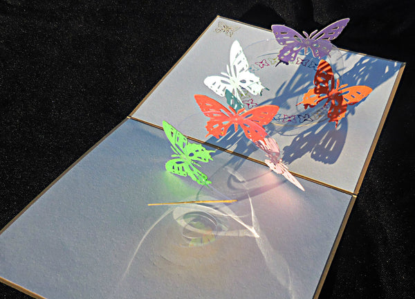 Lots of Butterflies 3D Pop Up Greeting Card 2