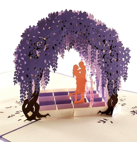 Wisteria Arbor 3D Pop Up Greeting Card 1