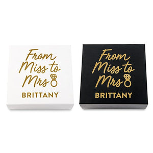 Bride Gift Box - Miss to Mrs. - SimplyNameIt
