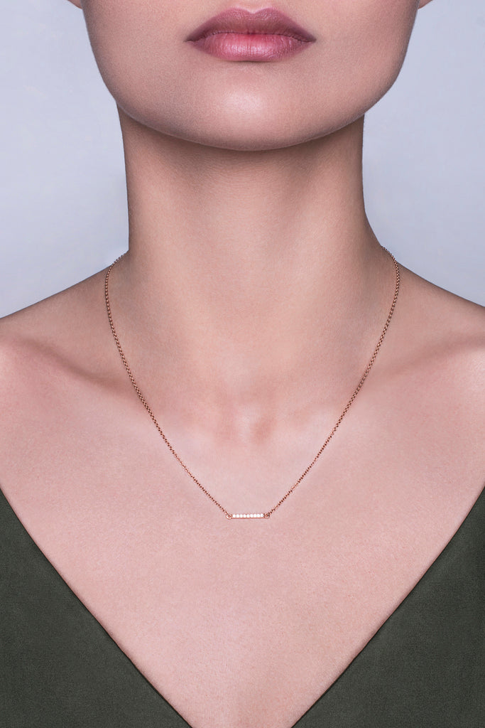 Collier Simplicity finition rhodium