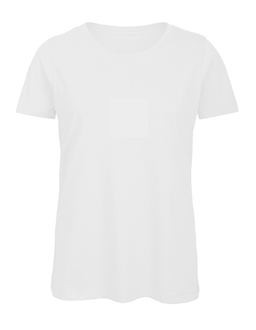 Ladies Basic T Rundhals white, Bio & Fairtrade