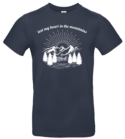 Lost my heart in the mountains T-Shirt navy blue