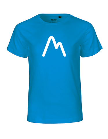 M is for Mountains Kinder T-Shirt sapphire blue
