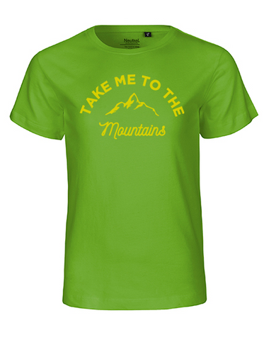 Take me to the mountains Kinder T-Shirt lime green