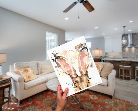 Rabbit Art - Woodland Nursery Decor