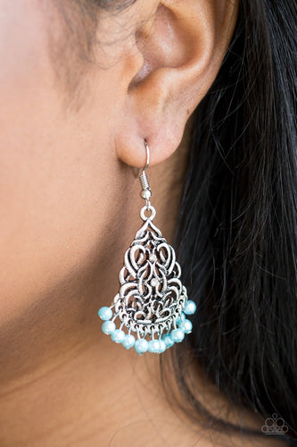 Baroque the Bank - blue - Paparazzi earrings