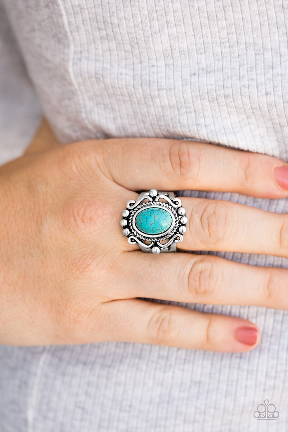 Dreamy Deserts - blue - Paparazzi ring