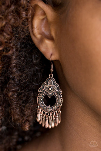 New Delhi Native-copper-Paparazzi earrings
