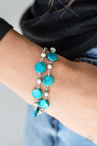 One Bay at a Time-blue-Paparazzi bracelet