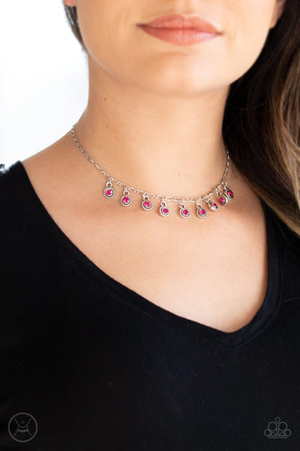 Popstar Party-pink-Paparazzi necklace