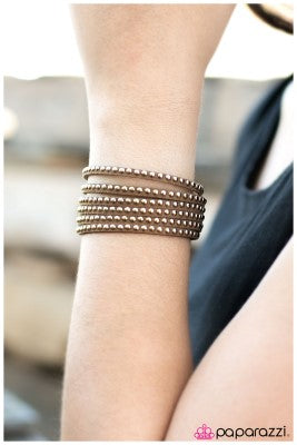 Rebel with a Cause - brown - Paparazzi bracelet