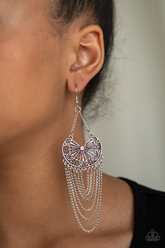 So Social Butterfly-Paparazzi earrings